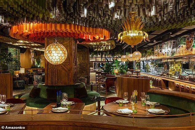 London restaurant Amazonico opened in November 2019 with its elaborate interiors