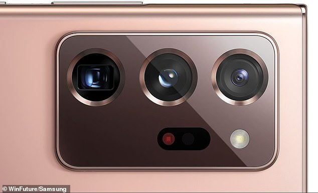 Note 20 Ultra.Both of the main cameras will support video recording of up to 8K recording – meaning they'll have an ultra-fine display resolution with a width of approximately 8,000 pixels