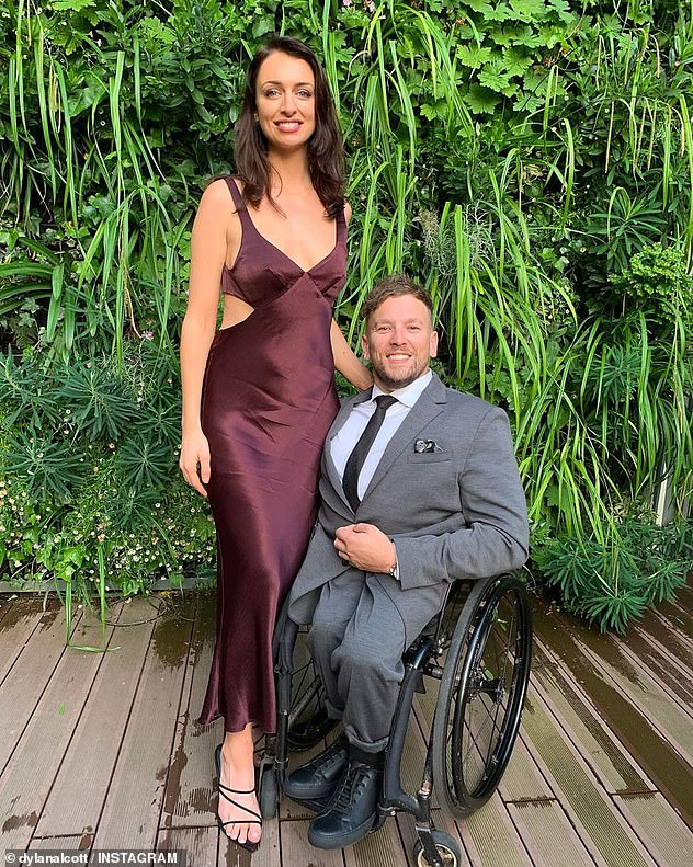 Spilling the beans: Dylan and Chantelle also recently discussed intimate details about their sex life on the Paralympian's podcast with Angus O'Loughlin, ListenABLE. In a candid discussion with his sexologist girlfriend, the wheelchair athlete admitted he'd felt nervous before their first sexual encounter