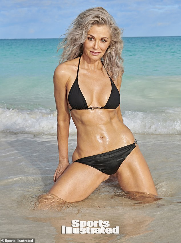 Go, girl! Kathy Jacobs poses for the Sports Illustrated Swimsuit Issue at age 56