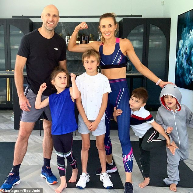 Living the dream! The Judd family (pictured) live in a $7.3million mansion in Brighton, an upmarket suburb in Melbourne's south east