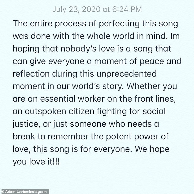 Statement:'Whether you are an essential worker on the front lines, an outspoken citizen fighting for social justice, or just someone who needs a break to remember the potent power of love, this song is for everyone. We hope you love it!!!'