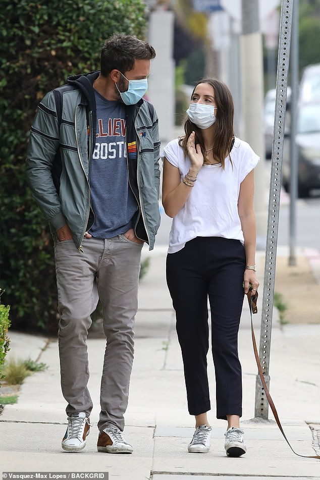Love is in the air:Ben Affleck and Ana De Armas seem happier than ever after spending months together during the coronavirus pandemic