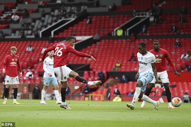 Greenwood took United to third place with their midweek tie against West Ham