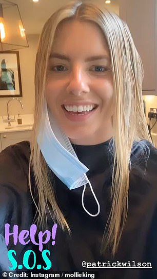 Hands on! The blonde bombshell opted for the latter and her doting hair stylist, Patrick Wilson, was on hand to carry out the deed