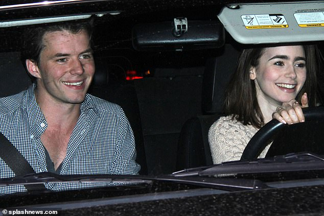 Ex-files: Thomas has enjoyed several high-profile romances over the years, including a fling with Lilly Collins in early 2014