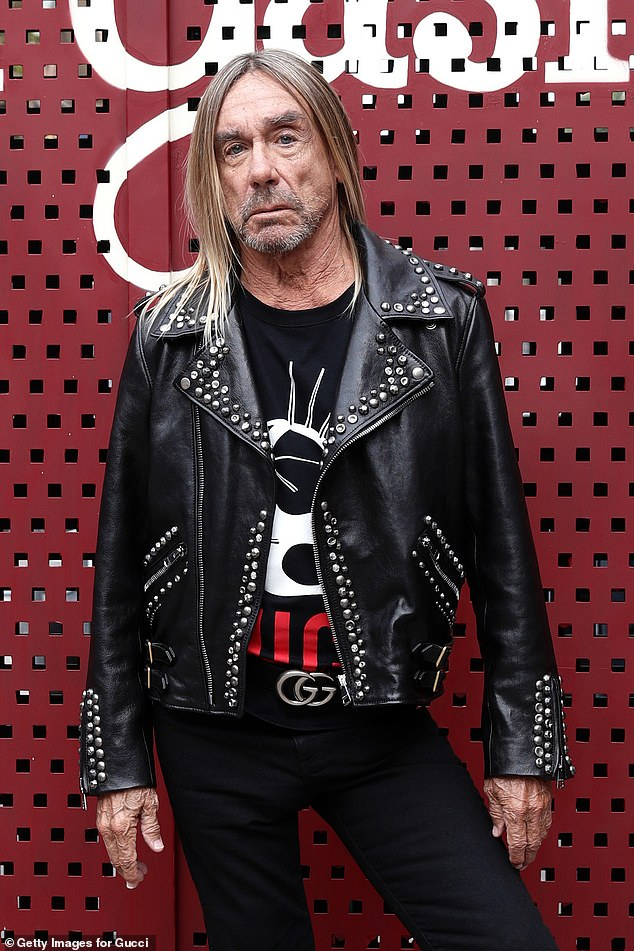 'A big favourite of ours': In an interview published by Mojo magazine, rockstar Iggy Pop, 73, (pictured) revealed that he and his late friend Bowie shared a love for the medical drama