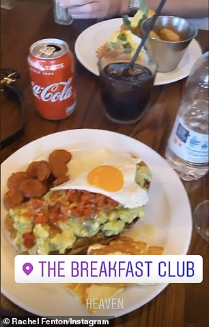 Tasty: She posted her after-party breakfast on her account, which included a fried egg with avocado on toast