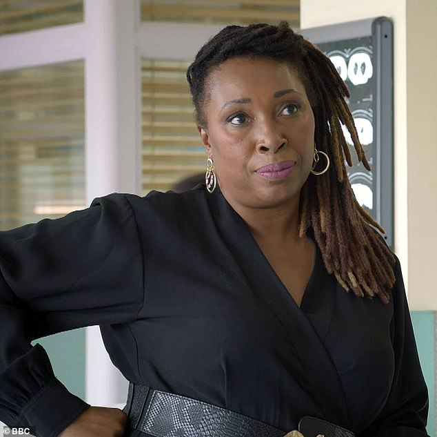 Star:The special episode will see the hospital's CEO Max, played by Jo Martin (pictured), wrestle to keep the hospital in control and her staff safe as the virus takes hold