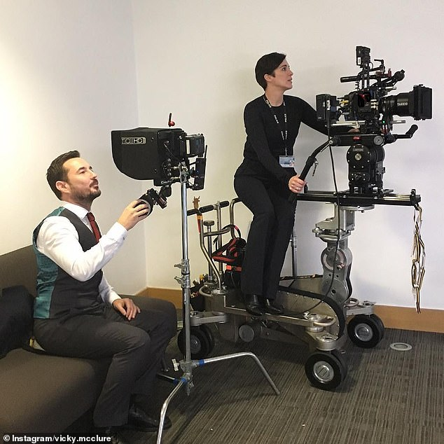 To work with stars Martin Compston and Vicky McClure [pictured], Jed added, `` We all feel very lucky and privileged that Line Of Duty has lasted as long as it has. ''