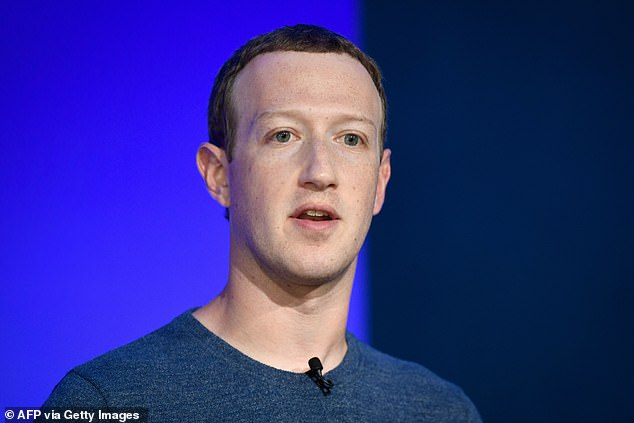 Pictured: Facebook CEO Mark Zuckerberg in 2018.Facebook has been under EU competition enforcers' scrutiny since last year, with one investigation focused on its trove of data and the other on its online marketplace launched in 2016 and used by 800 million Facebook users in 70 countries to buy and sell items