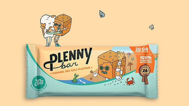 Plenny caramel sea-salt bars have oats, soya protein, flaxseed and sunflower oil as the main ingredients