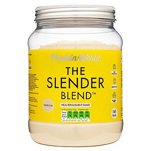 To help with weight loss and post-workout toning, Protein World The Slender Blend is made with whey protein from milk, vitamins and minerals, ¿thermogenic¿ [fat-burning] green tea and guarana, sweetener and inulin fibre