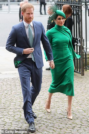 The biography of the Duke and Duchess of Sussex is already a success. Pictured are the couple in London in March