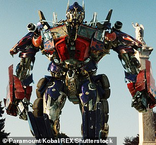 Pictured, Optimus Prime from Transformers