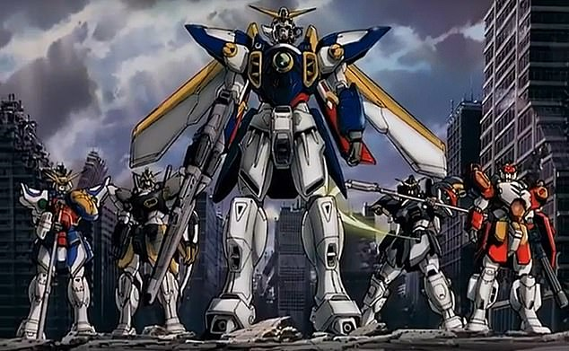 The fictional manned robot RX-78-2 Gundam was first created in 1979 by the anime series Mobile Suit Gundam (pictured)