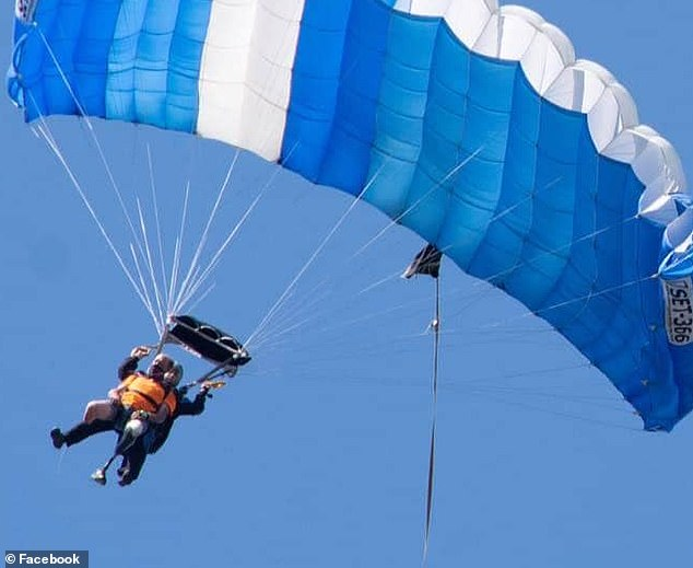Chris Marckres, 47, went for a jump Saturday at Vermont Skydiving Adventures in West Addison, as part of a bucket list wish spurred by a recent diagnosis of end-stage kidney disease
