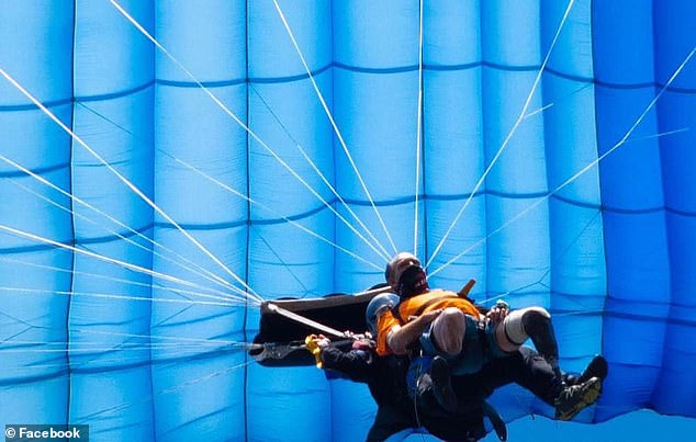 The two men, who have since become good friends, plan to skydive together in the fall