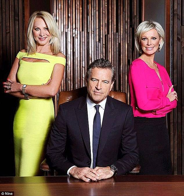 Remember when: Deborah Thomas, Brad Seymour, Dane Bouris, Kerri-Anne Kennerley (left) and Shelley Barrett (right) all held the role at various times throughout the shows four season run from 2011 to 2015. Pictured: 'Boss' Mark Bouris with his advisors