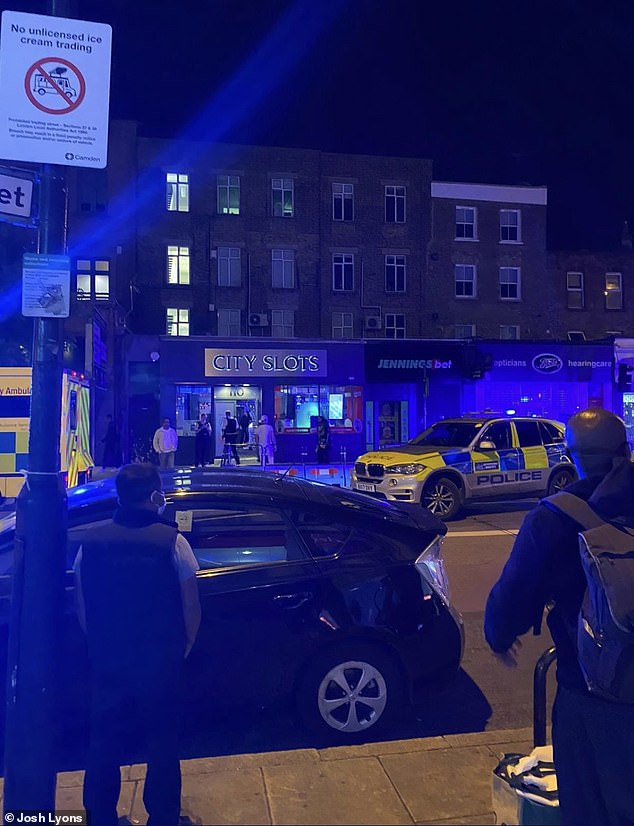 Mr Lyons, 19, said staff at the arcade held the suspect until the police arrived at the scene