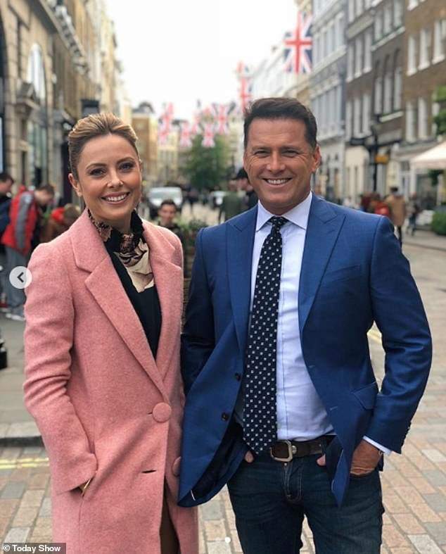 'The best time I've ever had on the show': Karl Stefanovic, 45, revealed on Wednesday's episode of The Kyle And Jackie O SHow that his person he's most enjoyed hosting Today with is his current co-star Ally Langdon, 41 (left)