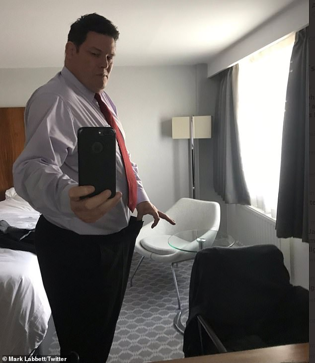 Shock: The Chase star Mark Labbett, 54, has revealed that he had suspected coronavirus and has lost almost five-stone during lockdown (pictured in July)