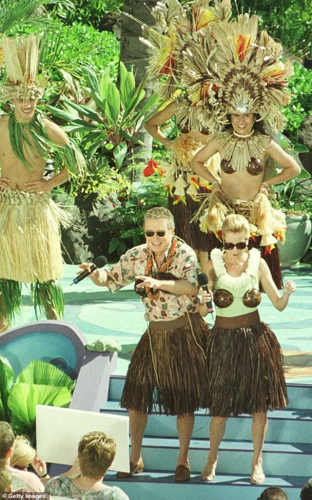 Dynamic duo: The pair co-hosted their hit show in Hawaii in 1997