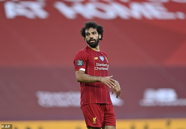 Salah, who had another great season for the Reds, ditched his afro brand