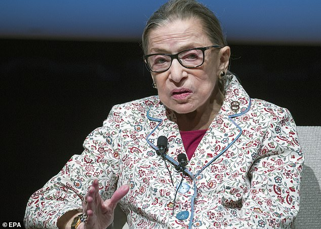 Supreme Court Justice Ruth Bader Ginsburg has undergone a nonsurgical medical procedure in New York City to 'revise a bile duct stent'. She is pictured last September