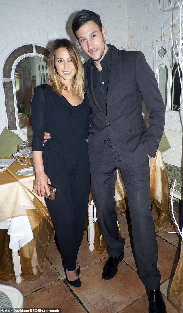Husband: Rachel with husband Alex Bourne, 43, whom she married in 2009 after 18 months of dating