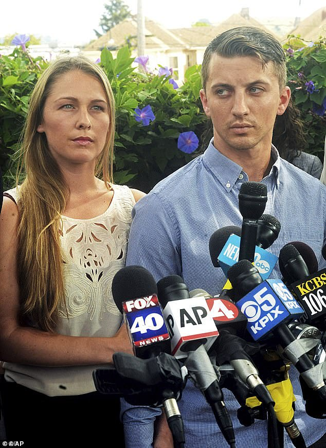 Whitney also claimed that a former police chief told him to delete text messages related to the kidnapping of Denise Huskins (left), and called the victim a 'b****'