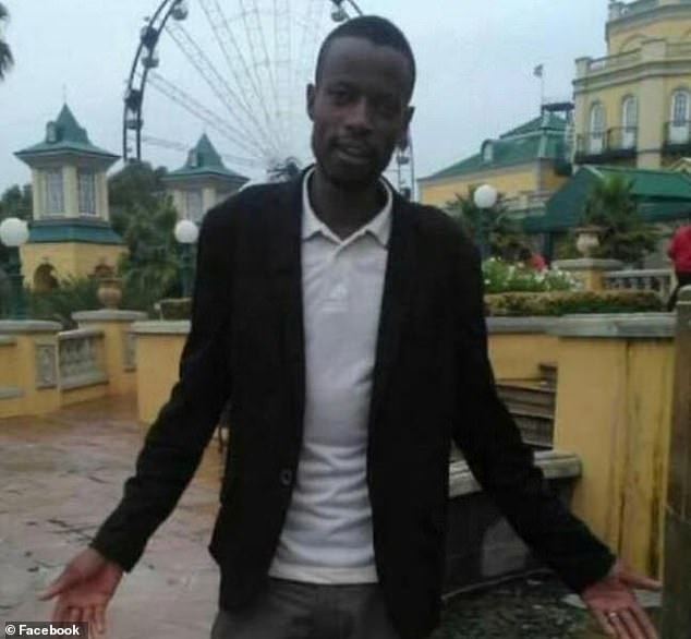 Prime suspect Andrew Ndlovu (pictured) was arrested yesterday under suspicion of murdering Christine Robinson six years ago