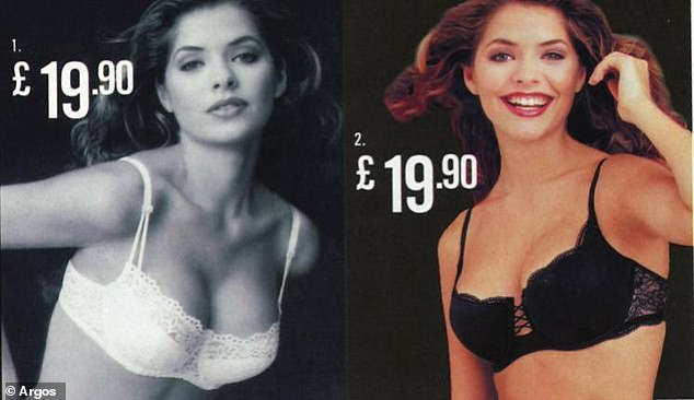 Throwback photos from the early 2000s shows This Morning presenter Holly Willoughby, who is now 37 and a mother-of-three, model several skimpy bras priced at £19.90