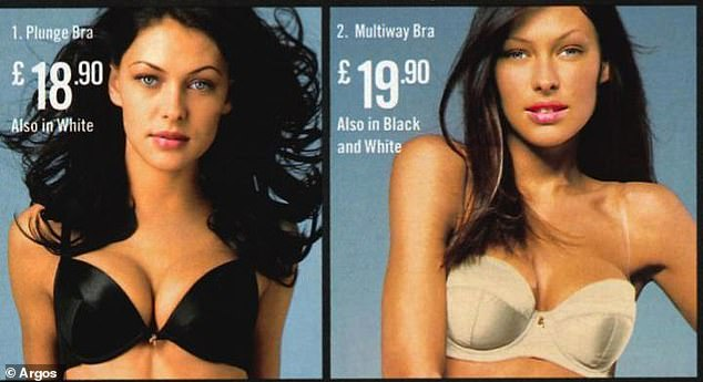 Emma Willis also showed off her ample assets for the catalogue retailer in the 2000s