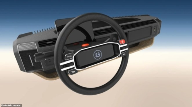 Slideable steering wheel lets drivers control the vehicle from either the left front seat or the right ¿ perfect for cross-country trips