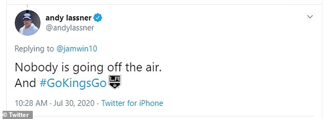 Executive producer Andy Lassner tweeted with confidence on Thursday that 'nobody is going off the air'