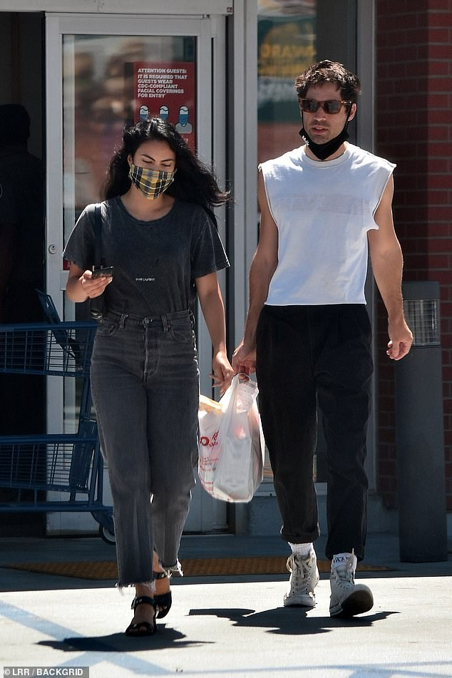 Productive day: Camila Mendes was spotted with her new beau, fashion photographer Grayson Vaughan while running errands in Los Angeles on Friday