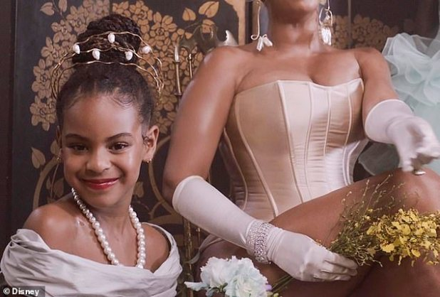 Star Turn: Blue Ivy makes several appearances in the scene and also performs vocally in music, including Brown Skin Girl and My Power