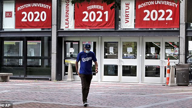 Schools like Boston University are frantically trying to decide whether and how to reopen this fall. BU will test its students, as will others, but with varying strategies (file)