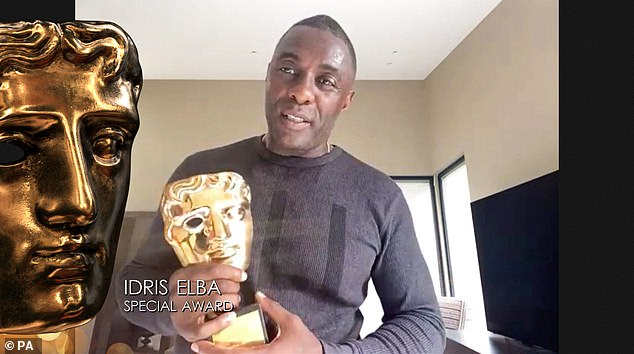 Special Award: It comes as Idris led the winners at the 2020 Televised BAFTAs on Friday, as he won the Special Award for his outstanding career and commitment to championing diversity
