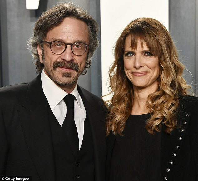 Marc Maron has revealed his director girlfriend Lynn Shelton died of acute myeloid leukemia that caused her organs to fail. Shelton, 56, passed away in hospital on May 16. The pair are pictured together at the Vanity Fair Oscar Party back in February