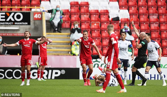 Referee Bobby Madden did not hesitate to wave the red card for Considine