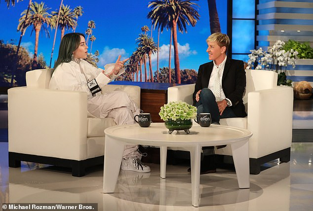 'She feels she can¿t go on and the only way to recover her personal brand from this is to shut down the show,' a source said of Ellen contemplating quitting her show. She's pictured on her show with 17-year-old pop star Billie Eilish