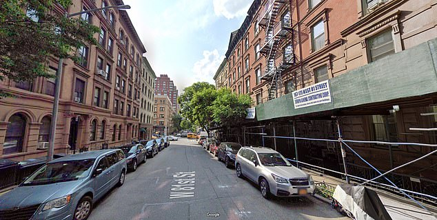 A neighbor said that, when he identified the body, Cotter's head was smashed into the ground and he was surrounded in a pool of blood. Pictured: West 81st Street