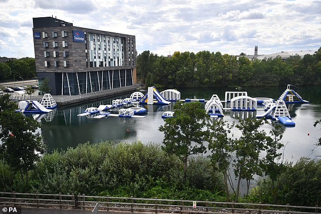 A lake near Lakeside Shopping Center in Thurrock, Essex, as a body was found searching for a 15-year-old boy after reporting that a teenager was missing in the area on Friday evening.
