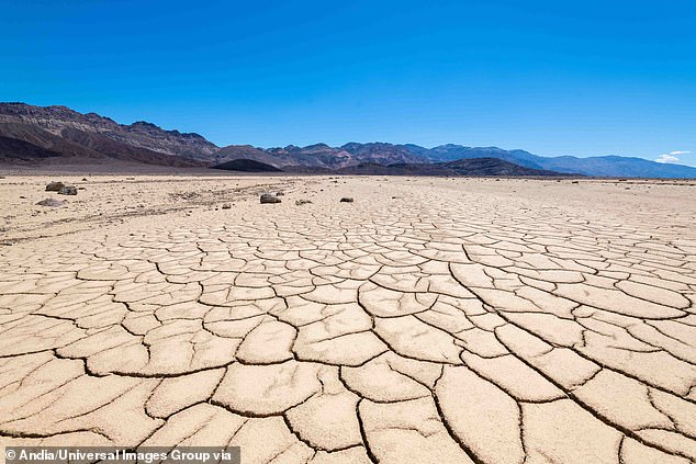 The temperature at Death Valley National Park in California was a record high 125 degrees Fahrenheit (stock) on Friday