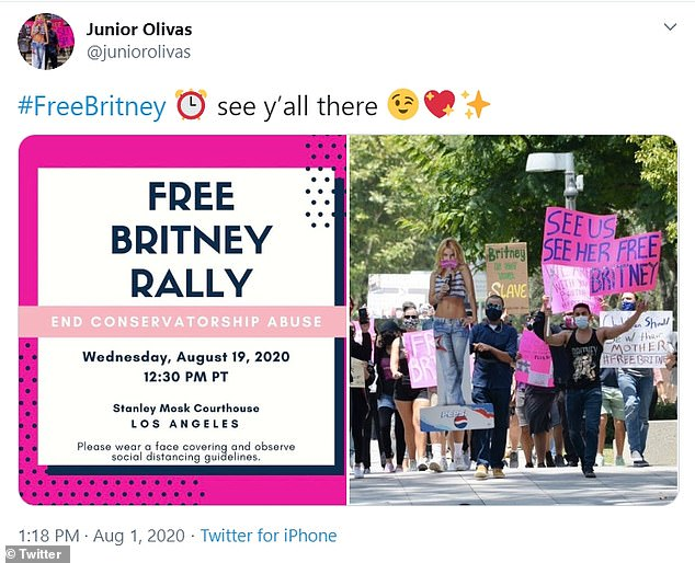 Campaign for #FreeBritney gathers momentum ahead of August 22 hearing in his case