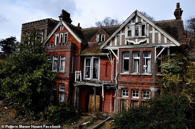 Derelict: It was originally built in 1890, but began to fall into disrepair in the early 2000s. (Pictured in 2012)
