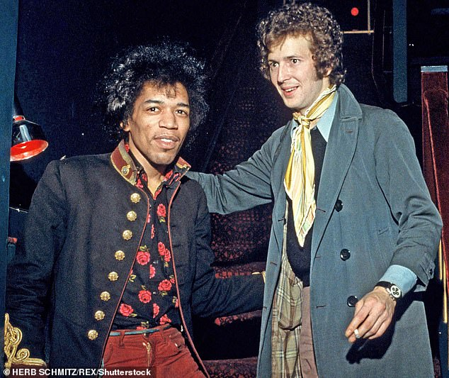 In September 1970 Hendrix met a lonely, squalid death in a West London hotel, the result of a supposed overdose of barbiturates, so creating pop music's greatest unsolved mystery. Pictured: Jimi in 1967 with Eric Clapton, who 'cried all day' when he died