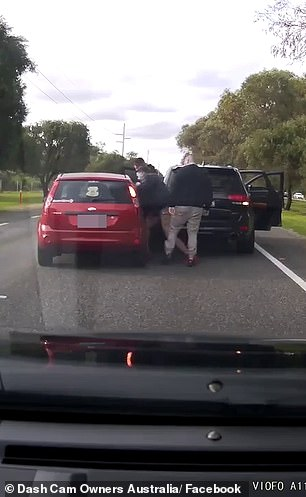 The cars were driving along Patterson Road at East Rockingham, in Perth's south, on Thursday when the Jeep cut in front of the Ford Focus